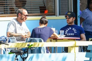 Terry Richardson Justin Theroux Out For Lunch And A Bike Ride