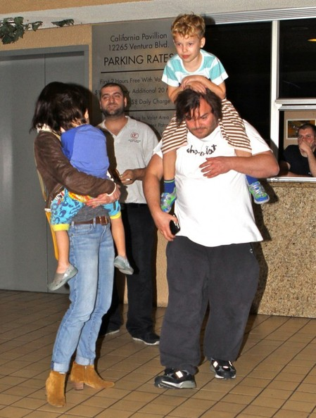 Jack Black And Family Out For Dinner