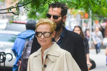 Tilda Swinton Tilda Swinton & Sandro Kopp Leaving Their NY Hotel