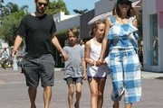 Actor Tobey Maguire is seen with his family in Malibu, California on July 3, 2016.