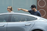 'The Great Gatsby' actor Tobey Maguire and his wife Jennifer Meyer take their children Otis & Ruby out for lunch at Real Food Daily in West Hollywood, California on July 27, 2014. Tobey's next film 'Pawn Sacrifice,' will soon premiere at the Toronto Film Festival.