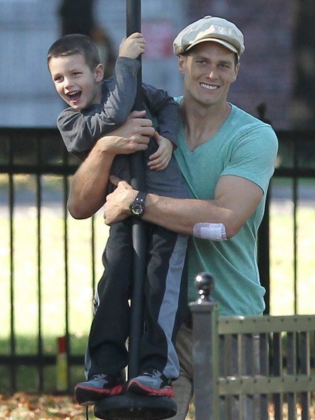 Photo of Tom Brady & his  Son  John Edward Thomas Moynahan
