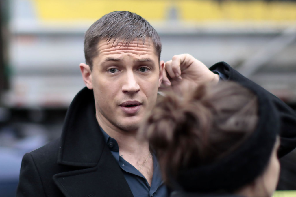 Tom Hardy On The Set Of This Means War Zimbio