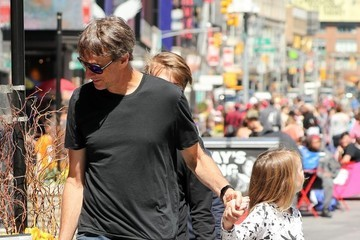Tony Hawk Tony Hawk Goes For A Walk With His Family In Times Square