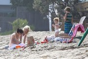 Tori Spelling Enjoys a Family Beach Day
