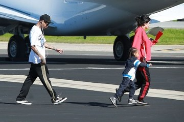 Tyga Kylie Jenner The Kardashian Family Catches a Private Jet Out of Town