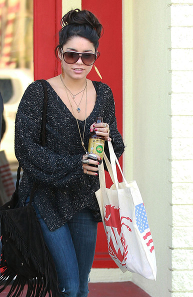 Vanessa Hudgens - Vanessa Hudgens Having A Very Busy Wednesday In West Hollywood