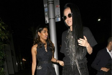 Vera Wang Celebrities Dine Out At Mr Chow