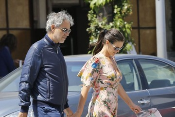 Veronica Berti Andrea Bocelli and His Wife Go Out for Lunch in Beverly Hills