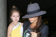 Victoria & Harper Beckham Arriving At LAX
