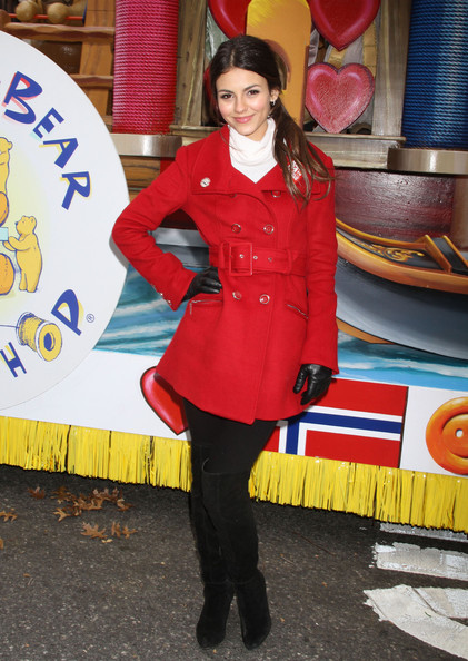 Victoria Justice Celebrities attend the Macy's Thanksgiving Day Parade in New York City.