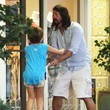 Violet Grohl Dave Grohl Takes His Family to Dinner