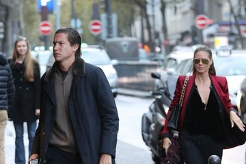 Vito Schnabel Heidi Klum And Vito Schnabel Dine Out In Paris