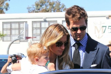 Vivian Brady Gisele Bundchen & Tom Brady Take Vivian To Get Baptized