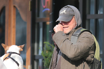 Will Patton Will Patton Stopping To Pet A Puppy In Vancouver