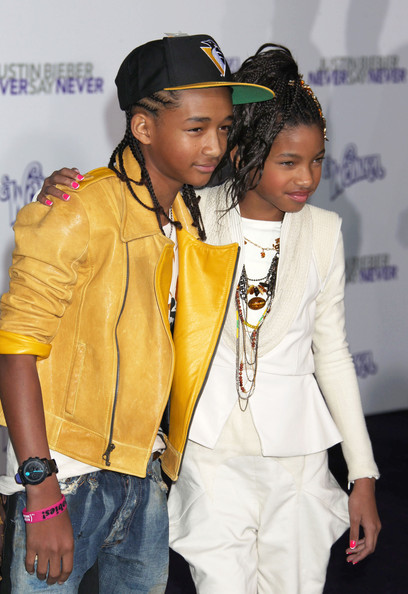 justin bieber jaden smith. Jaden Smith and Willow Smith