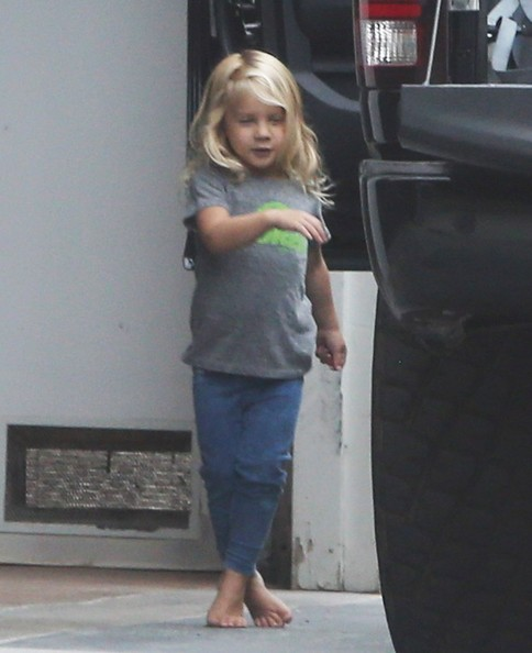 Husband carey hart are spotted leaving their home with their daughter