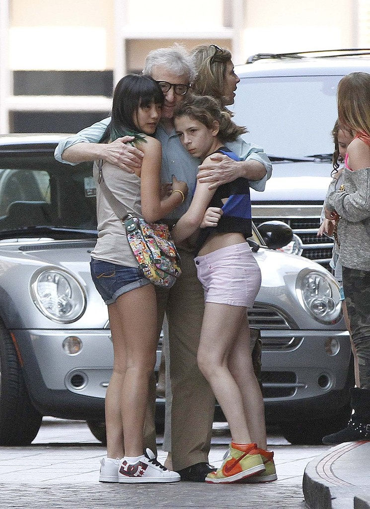 Photo of Woody Allen & his  Daughter  Manzie Tio Allen