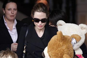 Zahara Jolie-Pitt Angelina Jolie And Daughters Leave The Amstel Hotel