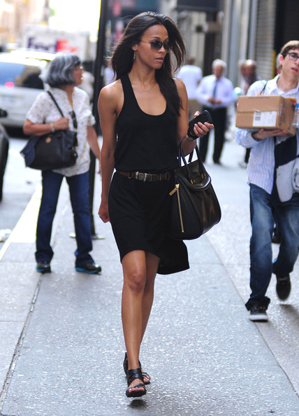 Zoe Saldana Is Lost In New York Zimbio