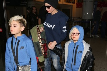 Zuma Rossdale Gwen Stefani & Family Touch Down At LAX