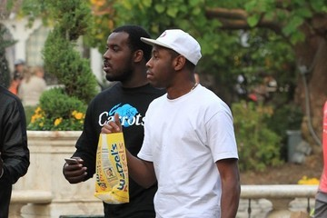 the Creator Tyler, The Creator Hangs Out With Friends at The Grove