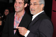 Actor James Wolk (L) and WIGS co-creator Jon Avnet arrive for the party to celebrate the one year anniversary of The WIGS Digital Channel at Akasha on May 2, 2013 in Culver City, California.