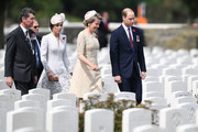 Prince William, Duke of Cambridge, Catherine, Duchess of Cambridge, Vice Admiral Sir Timothy Laurence and Queen Mathilde of Belgium arrive at the Commonwealth War Graves Commisions's Tyne Cot Cemetery ahead of a ceremony on July 31, 2017 in Ypres, Belgium. Dignitaries and descendants of those who fought are gathering to mark the centenary of Passchendaele, the third battle of Ypres. The campaign saw intense fighting over three months, one week and three days with historians currently agreeing that both sides suffered losses of around 260,000 casualties each.