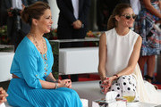 HRH Princess Haya Bint Al Hussein and actress Olivia Palermo watch the action on the final day of the Cartier International Dubai Polo Challenge 10th edition at Desert Palm Hotel on February 21, 2015 in Dubai, United Arab Emirates. The event takes place under the patronage of HRH Princess Haya Bint Al Hussein, Wife of HH Sheikh Mohammed Bin Rashid Al Maktoum, Vice-President and Prime Minister of the UAE and Ruler of Dubai.  The Cartier International Dubai Polo Challenge is one of the most prestigious happenings in Dubai's sporting and social calendar. On this occasion Cartier launched their latest watch creation Cle De Cartier.