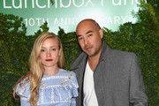 Stylist Kate Foley (L) and designer Max Osterweis attend The Lunchbox Fund Tenth Anniversary Benefit Dinner and Auction at Gabriel Kreuther on October 26, 2015 in New York City.