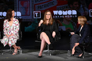 (L-R) Ashley Judd, Sarah McBride and moderator Katie Couric speak onstage during the 'Feminism: A Battlefield Report' session  at the 10th Anniversary Women In The World Summit - Day 2 at David H. Koch Theater at Lincoln Center on April 11, 2019 in New York City.