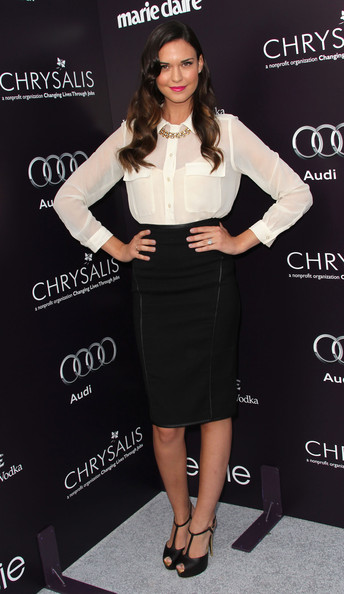 Actress Odette Yustman attend the 10th Annual Chrysalis Butterfly Ball on June 11, 2011 in Los Angeles, California.