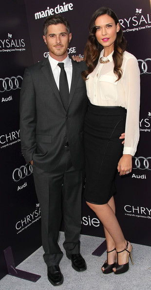 Actor Dave Annable (L) and actress Odette Yustman attend the 10th Annual Chrysalis Butterfly Ball on June 11, 2011 in Los Angeles, California.