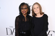 Anita Hill and Gloria Steinem attend 10th Annual DVF Awards at Brooklyn Museum on April 11, 2019 in New York City.
