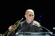 Paul Shaffer speaks at the 10th Annual Little Kids Rock benefit concert: Celebrating Lives Transformed Through Music Education at PlayStation Theater on November 8, 2018 in New York City.