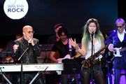 Musicians Paul Shaffer (L) and Grace Kelly Perform at the 10th Annual Little Kids Rock benefit concert: Celebrating Lives Transformed Through Music Education at PlayStation Theater on November 8, 2018 in New York City.