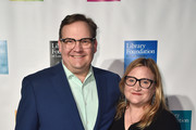 Andy Richter and Sarah Thyre attend the 10th Annual Young Literati Toast at Hudson Loft on April 7, 2018 in Los Angeles, California.