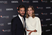 Actors Jamie Dornan (L) and Rosamund Pike attend the 10th Hamilton Behind The Camera Awards at Exchange LA on November 4, 2018 in Los Angeles, California.