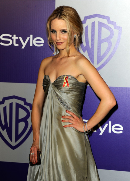 Dianna+Agron in 11th Annual Warner Brothers And InStyle Golden Globe After-