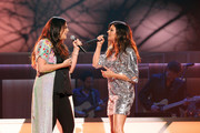 Hillary Scott and Karen Fairchild perform onstage during the 11th Annual ACM Honors at the Ryman Auditorium on August 23, 2017 in Nashville, Tennessee.