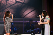 Karen Fairchild and Hillary Scott perform onstage during the 11th Annual ACM Honors at the Ryman Auditorium on August 23, 2017 in Nashville, Tennessee.