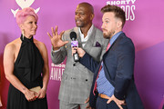Rebecca King-Crews and Terry Crews are interviewed at the 11th Annual Shorty Awards on May 05, 2019 at PlayStation Theater in New York City.