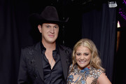 Jon Pardi (L) and Lauren Alaina take photos during the 12th Annual ACM Honors at Ryman Auditorium on August 22, 2018 in Nashville, Tennessee.