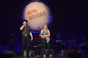 Jon Pardi and Lauren Alaina speak onstage during the 12th Annual ACM Honors at Ryman Auditorium on August 22, 2018 in Nashville, Tennessee.