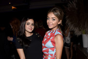Actresses Ariel Winter (L) and Sarah Hyland attend the 12th Annual Teen Vogue Young Hollywood Party with Emporio Armani on September 26, 2014 in Beverly Hills, California.