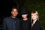 (L-R) Actor Trevor Jackson, singer/actress Zendaya and Teen Vogue Editor in Chief Amy Astley attend the 12th Annual Teen Vogue Young Hollywood Party with Emporio Armani on September 26, 2014 in Beverly Hills, California.