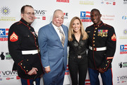 (L-R) Corporal Steven Schulz, Senior Master Sergeant Israel del Toro, Sheryl Crow and Corporal Kionte Storey attend the 13th annual Stand Up for Heroes to benefit the Bob Woodruff Foundation at The Hulu Theater at Madison Square Garden on November 04, 2019 in New York City.