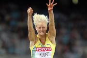 Carolina Kluft of Sweden competes in the women's long jump qualification round during day one of the 13th IAAF World Athletics Championships at the Daegu Stadium on August 27, 2011 in Daegu, South Korea.