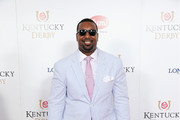 NFL player Chris Canty attends the 141st Kentucky Derby at Churchill Downs on May 2, 2015 in Louisville, Kentucky.