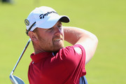 John Singleton of England plays his second shot to the fifth hole during the first round of The 143rd Open Championship at Royal Liverpool on July 17, 2014 in Hoylake, England.